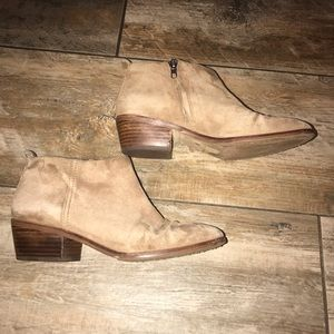 J. Crew Factory - Tan Suede Ankle Booties (7.5)
